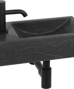 Ben Venetia fonteinset Links Hardsteen/Gestructureerd Zwart