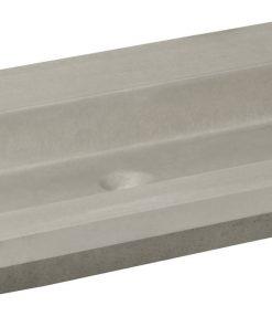 Ben Concrete Wastafel enkel 80x51cm zonder kraangat Beton