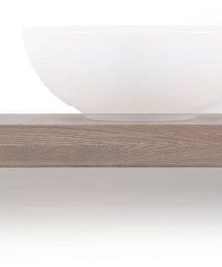 Looox Wooden Base Shelf Solo 160 cm Houder Rechts Old Grey/Mat Zwart