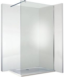 Saniselect Xiloma Inloopdouche  80x210 cm Aluminium Gepolijst